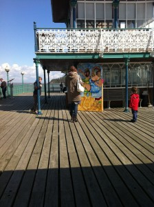 the cutout available on the pier that sometimes creates illusions