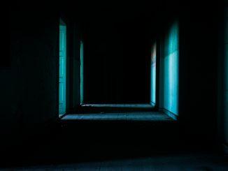 Spooky dark corridor