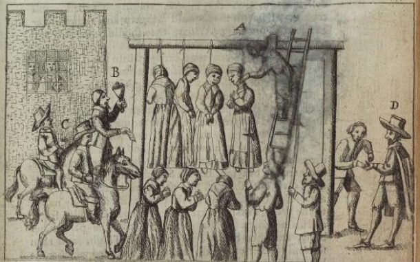 illustration of accused Witches being hanged